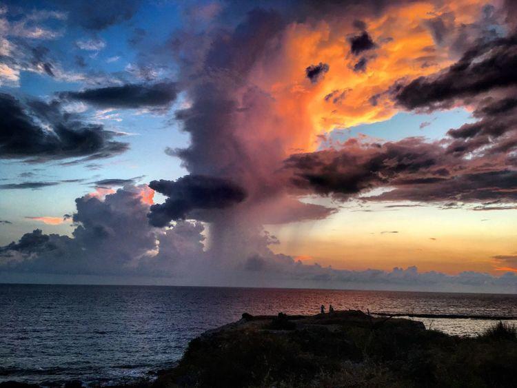 Methoni Cloudporn Sea Water Sky Cloud - Sky Beauty In Nature Scenics - Nature Horizon Over Water Power In Nature Dramatic Sky