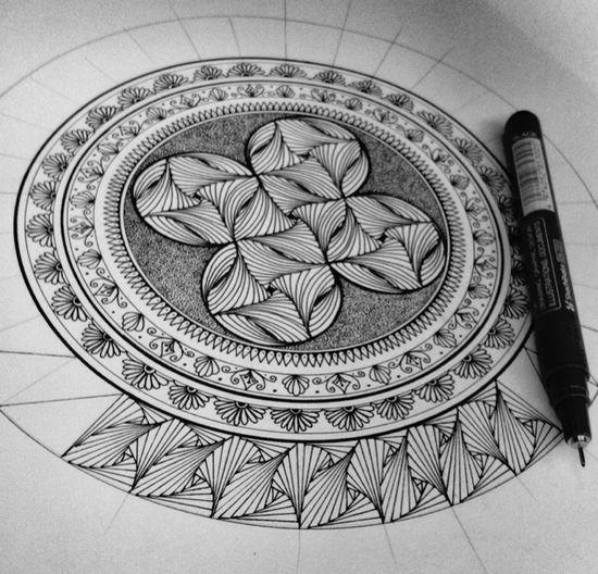 Mandala Art Mandala Mandalas Zentangle Parabolic Line Zendala Doodle