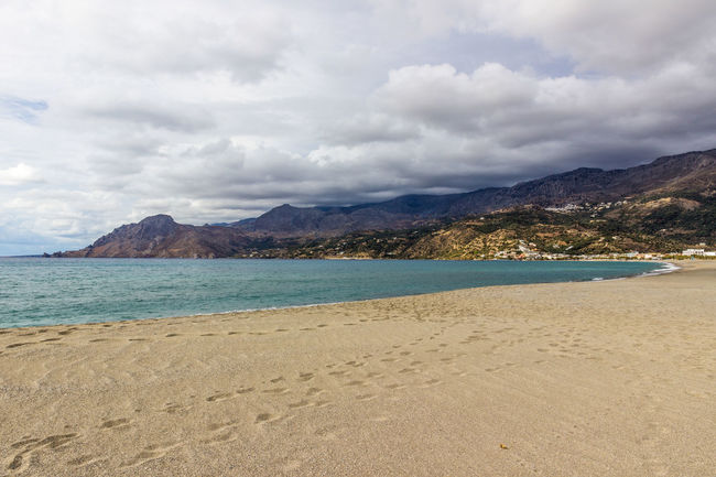 Plakias beach, south Crete, Greece Crete Greece Greece, Crete Holiday Holidays Bay Beach Beauty In Nature Cloud - Sky Clouds And Sky Crete Greece Mountain Mountain Range No People Outdoors Plakias Sand Sandy Scenics Sea Tourism Tranquil Scene Tranquility Travel Destinations Water