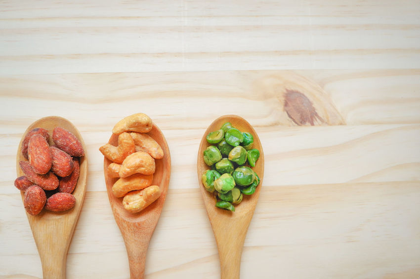 Nutritional value, Almond, cashew nut, Peas in wooden spoon on wooden background, copy space. health care with whole grains. top view food in morning. Choice Copy Space Seed Snack Spoon Wood Almond Background Cashew Fiber Fresh Grains Group Harvest Healthy Diet Healthy Food Nut Nutritional Nutritional Supplement Peas Protein Value Whole Wholegrain Wooden