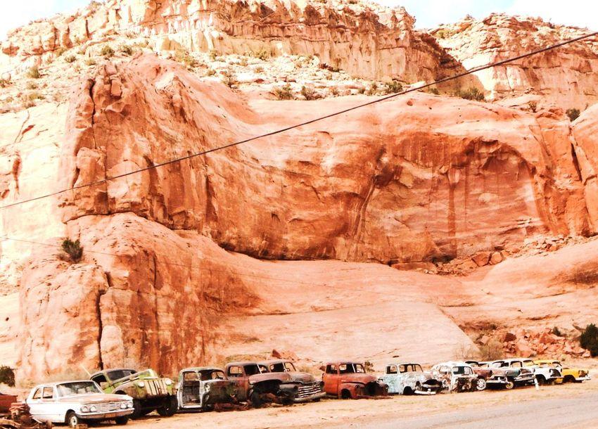 Junk Cars junk Rock Formation Cliff Vintage Cars Vintage Trucks Hot Rods