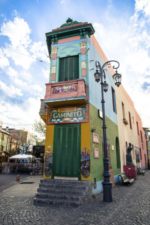 El Caminito, Boca, Buenos Aires. Buenos Aires Caminito Painted Tourist Attraction  Architecture Argentina Boca Building Building Exterior Built Structure City Colorful Multi Colored No People Outdoors Sky South America Street Sunlight Tango Travel Destinations