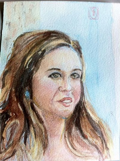 Watercolour of Lizzy The Purist (no Edit, No Filter) Portrait Eye4photography  Art Gallery