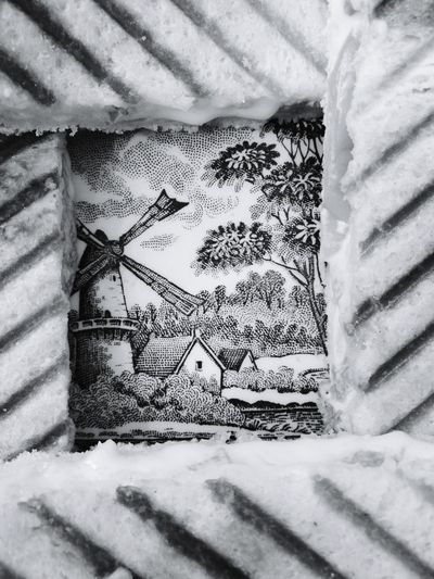 Hello World Taking Photos Sandwiches Plate Screnary Design View Through The Sandwiches Monochrome Black And White Home Is Where The Art Is