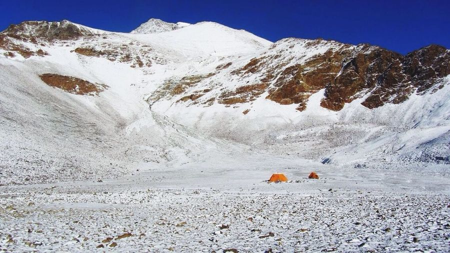Campamento canchita Snow Snowcapped Mountain Tent Camping Landscape