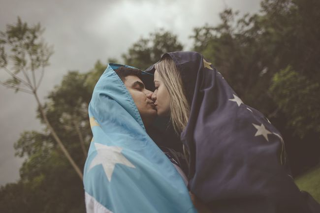 EyeEm Selects Hood - Clothing Nature Sky Flags Togetherness Sweet Moments Beauty Couple Couple In Love Couples Shoot Couplesphotography Coupletravel Couple Cuteness