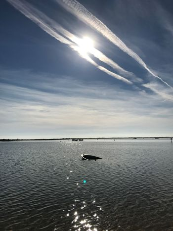 Sea Nature Scenics Water Beauty In Nature Sky Tranquility Tranquil Scene Horizon Over Water Idyllic Waterfront No People Outdoors Sunbeam Sun Cloud - Sky Day Animal Themes Cacela Velha Portugal Nofilter Noedit