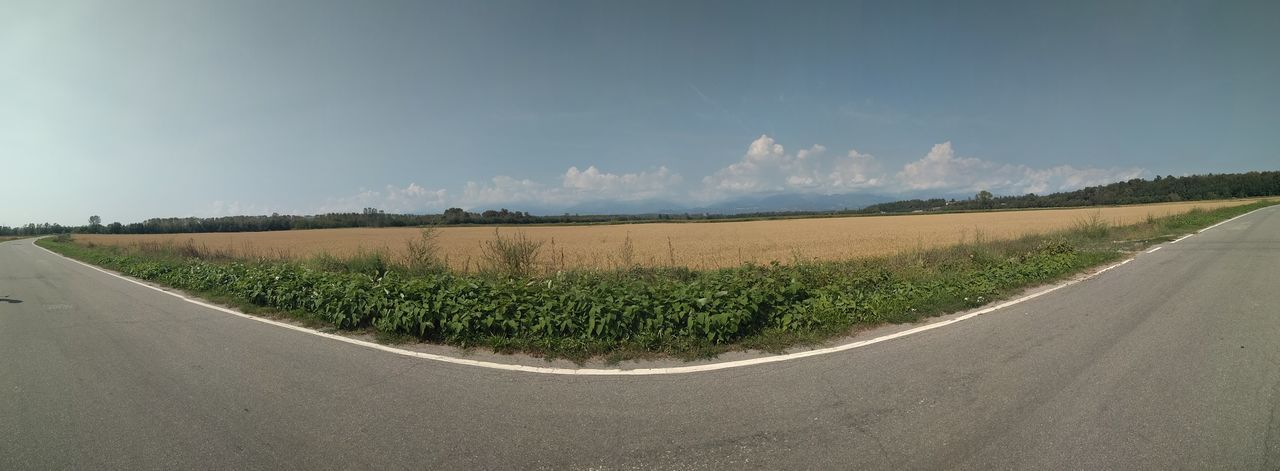 Risaie lungo la strada Agriculture Rural Scene Cloud - Sky Beauty In Nature Nature Outdoors Sky Cereal Plant Scenics Landscape No People Tranquility Tranquil Scene Montagne Biellese Vercellese Grass Mountain Range Summer 2017 🏊🌞