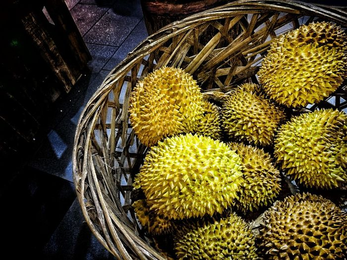 Nature High Angle View Day No People Outdoors Close-up Tropical Fruits Durian Durian Fruit Durian Season Durians Shop Durianfestival Durianlovers Temptation Business Customer  Dessert Lifestyle Malaysia Nusantara Limited Deliciuos