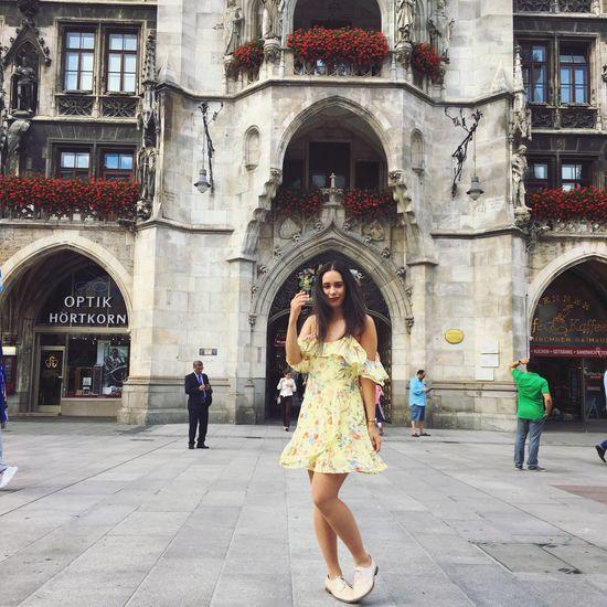 Enjoying Life Having Fun Having A Good Time Fun Good Times München Marienplatz Dress Fashion Architecture Beautiful Exploring Journey Travel Destinations Summer Summer Views Summertime Enjoying The Sun Snapshot Happiness Happy