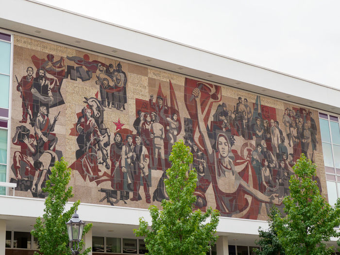 Historic Mural at Dresden Concert Hall Architecture Built Structure Art And Craft Human Representation Creativity Representation Male Likeness Mural DDR GDR Socialism Communism Communism Architecture Communism Remnants Working Class