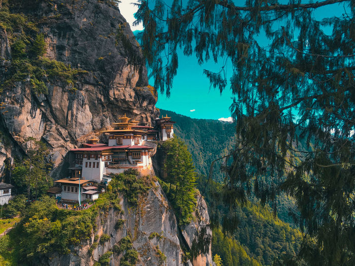 View of the famous paro taktsang aka the tigers nest.