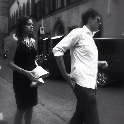On the street of Firenze Mobileart IPhoneography The Minimals (less Edit Juxt Photography) NEM Black&white