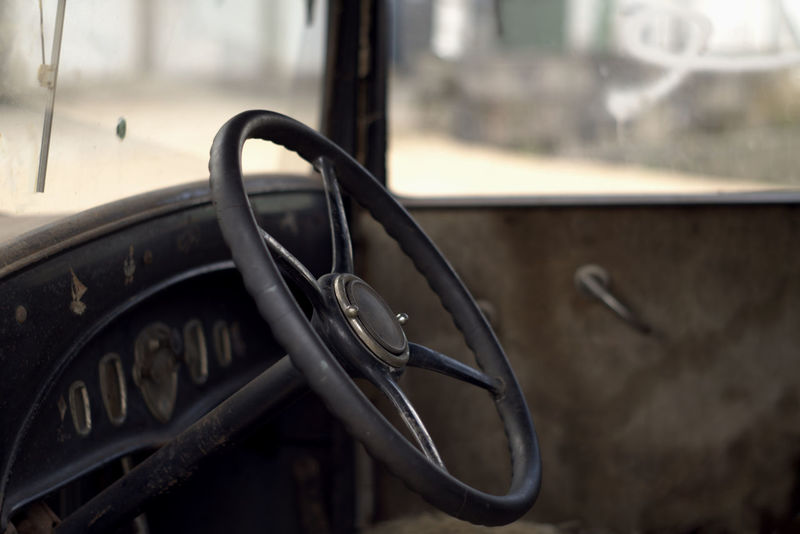 Look in the past. Close-up Comfort Day Hello World Indoors  Land Vehicle Mode Of Transport Modeoftransport No People Nostalgia Nostalgic  Old Car Oldtime Photography Steering Wheel Taking Photos Transportation Vehicle Vehicle Interior Window