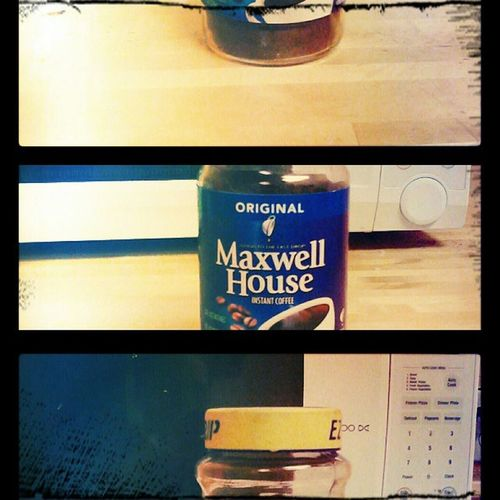 Maxwell House. Done on my Samsung Vibrant using pixlr-o-matic. Coffee Instapic Maxwellhouse Art phoneart