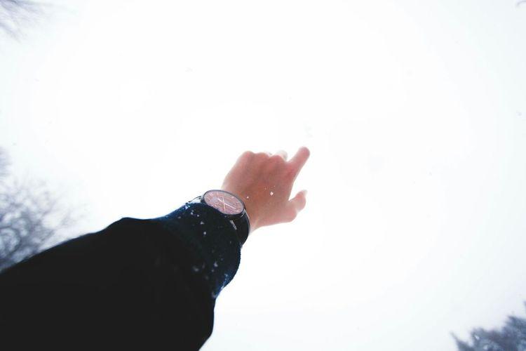 Sky Hand Winter Snow