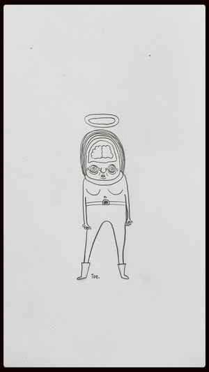 Drawing Abstract Blackandwhite Human