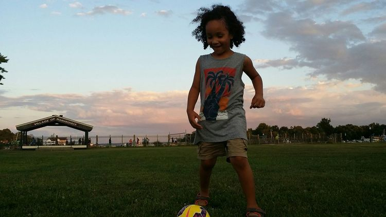 Kids Photography Happy Kid! Curly Hair Natural Hair Smile :) Soccer⚽ Summer ☀ Summer2015 SummerNights Summerfun