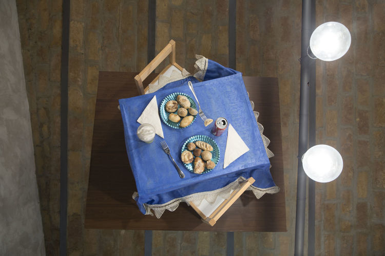 Wood - Material Indoors  Table Directly Above Blue No People High Angle View Still Life Food Food And Drink Freshness Hardwood Floor Wellbeing Close-up Box Wood Shape Fruit Healthy Eating Lighting Equipment A New Perspective On Life