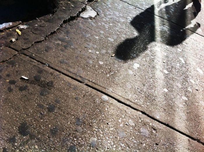 sidewalk reflection Brown Light And Shadow Person Reflection Sidewalk Street Textured  Urban