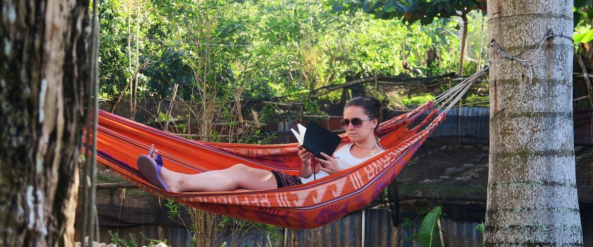 Adventure Backgrounds Chill Chilling Chilling In Hammock Day Destination Girl Girl In Hammock Hammock Outdoors Reading Reading & Relaxing Reading A Book Rest Safety Side By Side Taking A Rest  Woman In Hammock Working