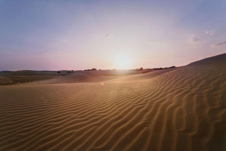 Thar Travel India Jaisalmer Landscape Moody Sand Dune Desert Sunset Full Length Horizon Adventure Arid Climate Sand Summer