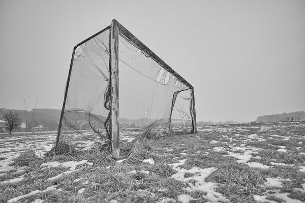 Austria Black And White Day Field Football Football Goal Football Meadow Look Meadow Nature Network No People Old Football Goal Old Goal Outdoors Playing Ground Rusty Rusty Goal Schwarz & Weiß Sky Soccer Sport Styria Winter Winter Football