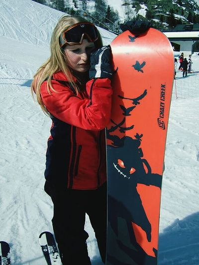 Snowboarding Blonde Girl French Alps Holiday♡