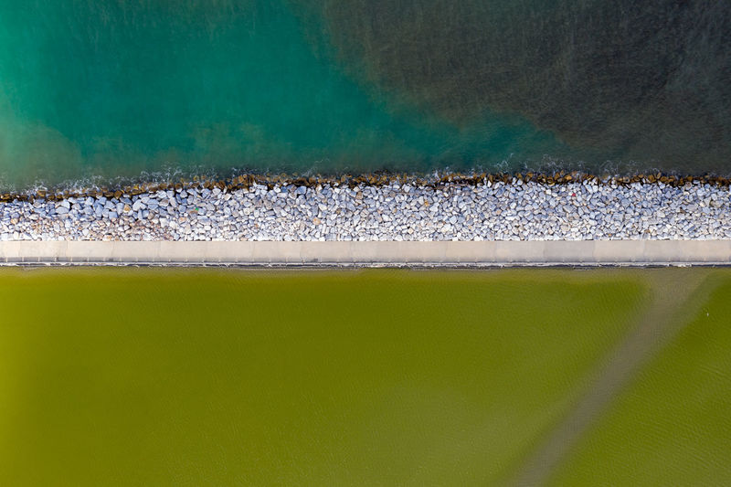 Aerial Photography Sea Nature Quiet Colours Sand Water Pollution Green Color