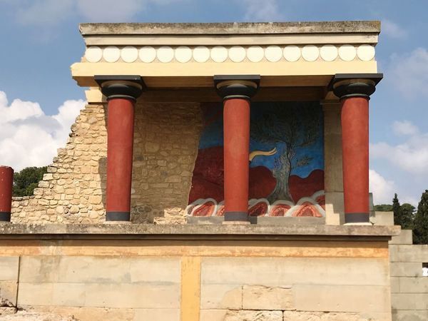 Knossos Crete Greece Architecture Built Structure Building Exterior Day Building No People Sky Roof Travel Destinations History Place Of Worship Nature Adventures In The City