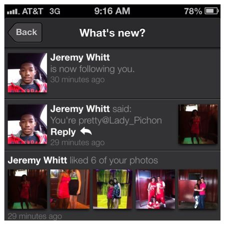 S/O to Jeremy for showing me love.!!❤