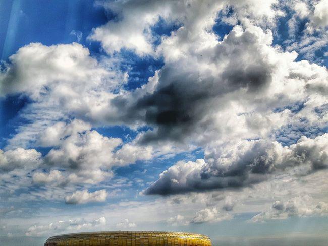 Football arena Cloud - Sky Dramatic Sky Sky Outdoors No People Football Football Stadium Football Arena Soccer Stadium Soccer Arena Stadion The Architect - 2017 EyeEm Awards EyeEmNewHere