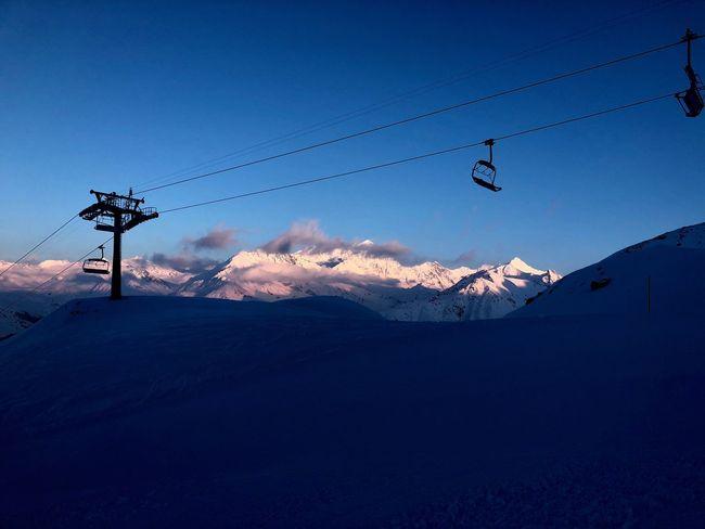 Swiss Alps Valais Valdanniviers Grimentz Grimentz Zinal Winter Outdoors Nature Mountain Beauty In Nature Ski Lift Go Higher The Great Outdoors - 2018 EyeEm Awards