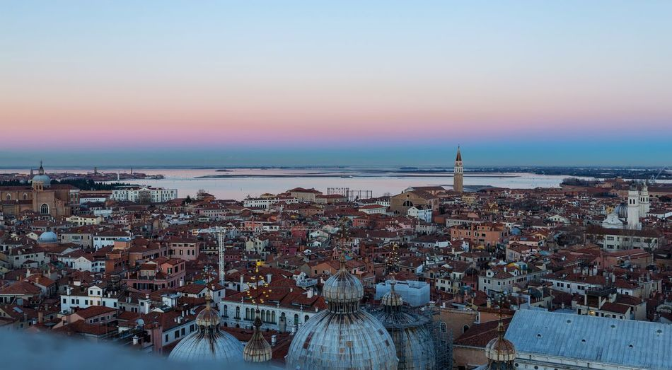 Venice at dusk Bell Tower Venezia Veneto Region Red Roofs Dusk Colours Dusk In The City Italy🇮🇹 Colourful EyeEm Selects Seaside Seascape Venice Sky Sea Water Sunset Architecture Horizon Nature Horizon Over Water Built Structure Scenics - Nature Beauty In Nature Building Exterior City Building