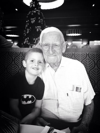 Great grandson with Great Pop! So much love between them Family EyeEmBestPics