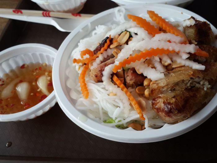 Bún Thịt Nướng Nem Saigonstreetfood Vietnamesefood Foodlover Saigon, Vietnam Vietnamtravel Togethertime2016