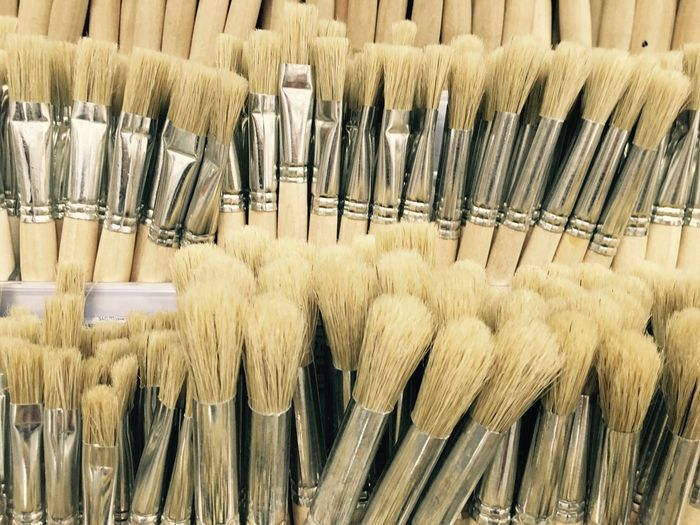 Abundance Arrangement Brushes Close-up Group Of Objects In A Row Large Group Of Objects No People Painting Shop Side By Side Still Life Wood - Material Showcase July The Color Of Business