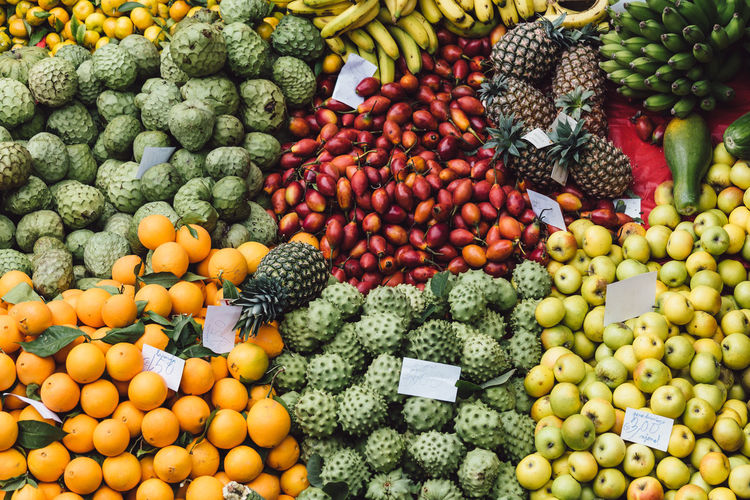 Full frame shot of fruits at market stall