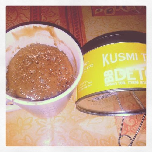 Tea time BB detox Kusmitea & mugcake choco praliné et caramel au beurre salé @loiccortinovis Instafood