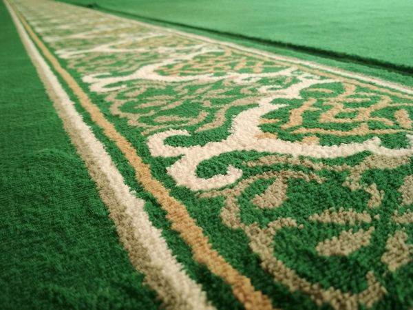 Teduh Green Color Grass Pattern No People Full Frame Sport High Angle View Plant Day Land Field Backgrounds Close-up Nature Outdoors Carpet - Decor Lawn Selective Focus White Color Playing Field Mosque Mosques Carpet, Flooring, Coverings, Patterns, Textures, Rugs, Ship, Backgrounds, Colorful,