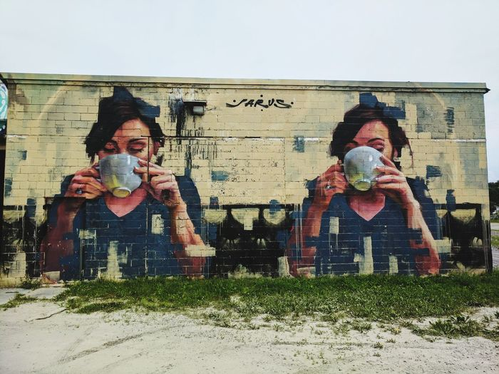 Cupofcoffee Cupoftea Tea Coffee Morning Beautiful Banksyart OMS Art Graffiti Relax Wallpaper AllMine Togetherness People Boys Outdoors Cheerful Adult Child Day Friendship
