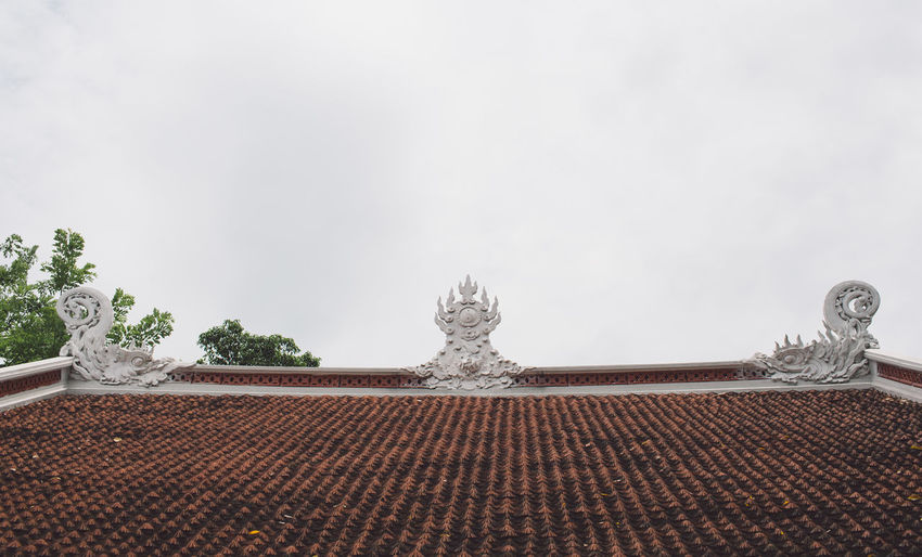 Low angle view of roof