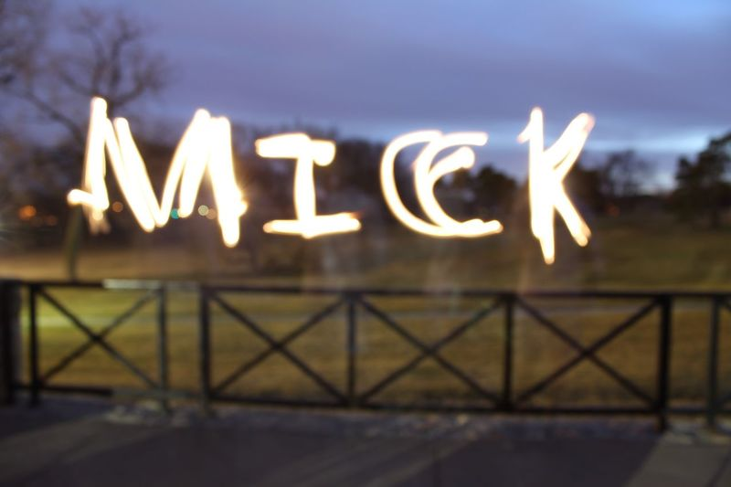 Classic Name Writing Mick Long Exposure