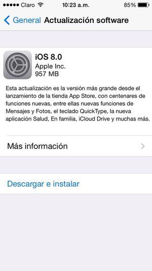 Al fin puedo descargar IOS 8 Iphone 5 IPhoneography ?