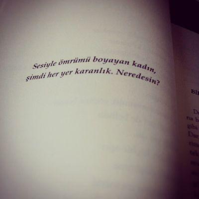 Sesiyle ömrümü boyayan kadın, şimdi her yer karanlık. Neredesin? SerkanÖzel Canınsağolsun Aşk Soz Kitap