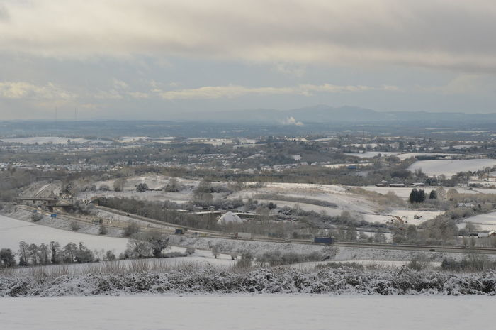 Winter Cold Temperature Snow Landscape Rural Scene Outdoors Nature Aerial View Scenics Cloud - Sky Beauty In Nature No People Tranquility Shades Of Winter