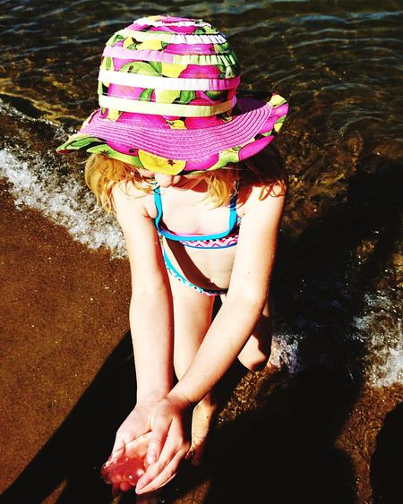 EyeEm Selects One Person Beach One Girl Only Water Summer Hat People Sand Sun Hat Child Childhood Sea Relaxation Eastsea Eastsea-coast Germany EyeEmNewHere
