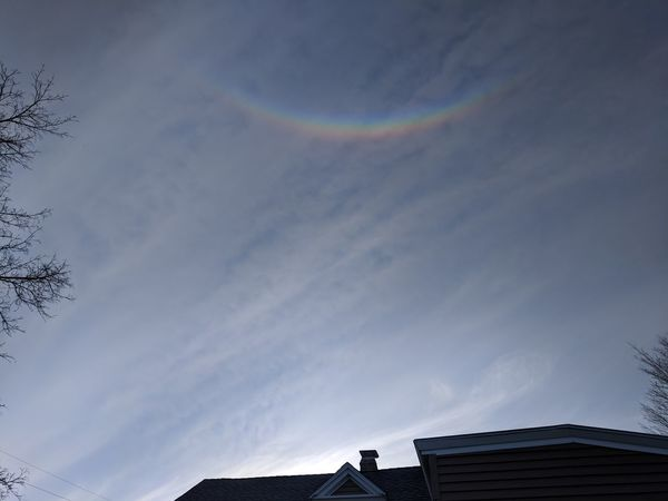 """""""upside down rainbow? who would of thunk"""" """"no filters"""" Sky Building Exterior Architecture Built Structure Rainbow Natural Arch"""