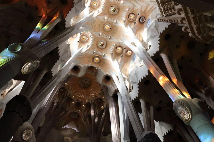 Abstract Arhitecture Arhitectureporn Church Decor Decoration Different Perspecrtive Fine Art Photography Gaudi Gaudi Barcelona Getting Inspired Illuminated Impressive Lighting Equipment Low Angle View Macro Majestic Ornate Sagrada Familia See What I See