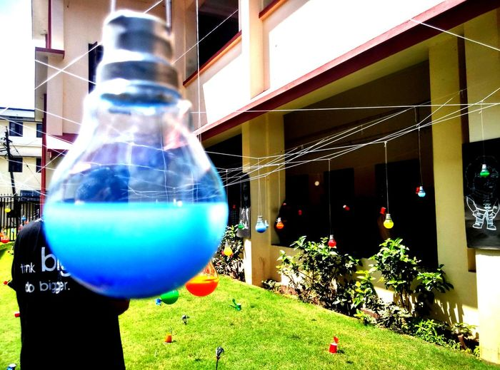 EyeEmNewHere Architecture Balloon Bubble Wand Building Exterior Built Structure Close-up Day Green Color Multi Colored No People Outdoors Tree